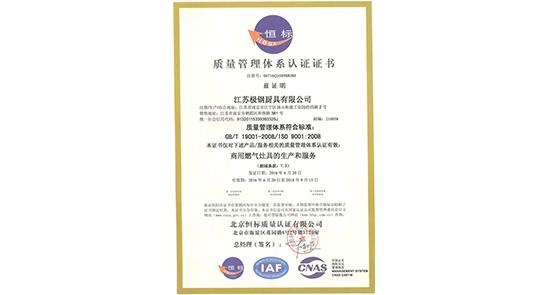 质量管理体系认证证书 9000-3